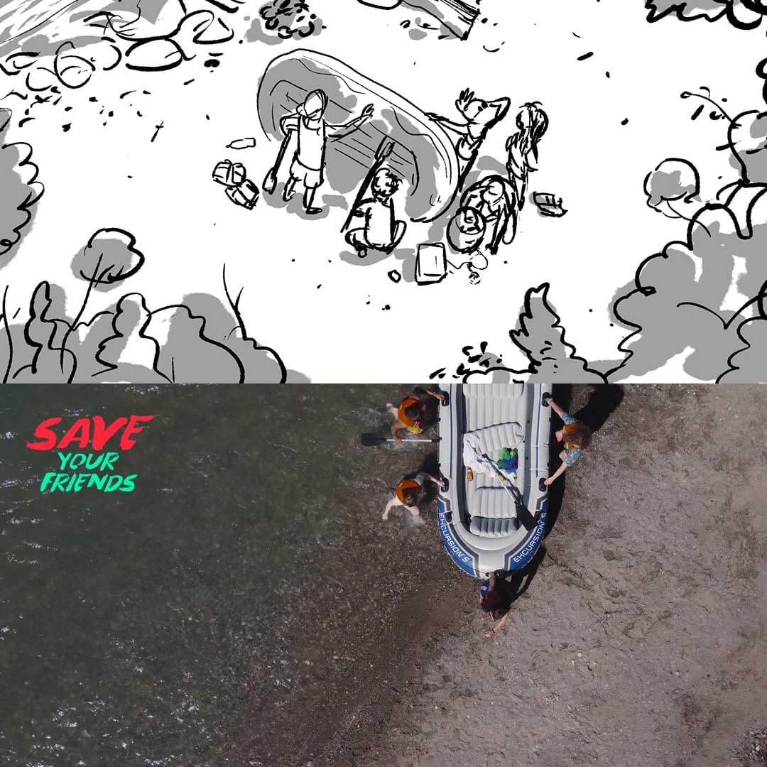 Filmproduktion Bern - BOFF. - Visana und SLRG - Interaktives Video – Storyboard vs. Film – Boot aus Wasser heben