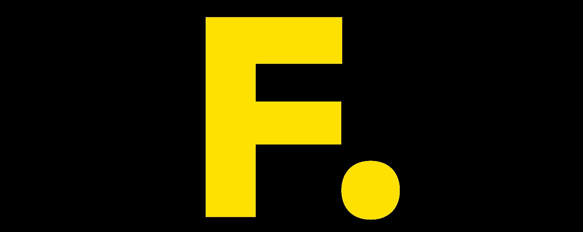 Filmproduktion Bern - BOFF.  - Buchstabe F. Gelb