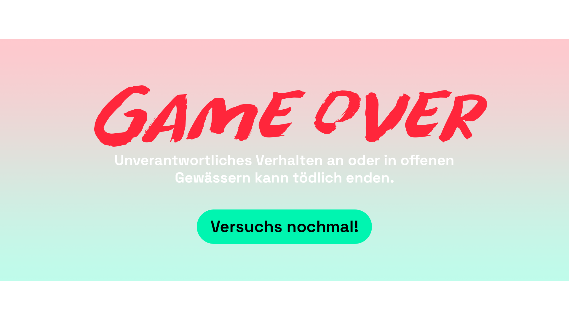 Filmproduktion Bern - BOFF. - Visana und SLRG - Interaktives Video – Game Over
